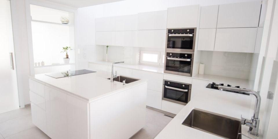all-white kitchen design
