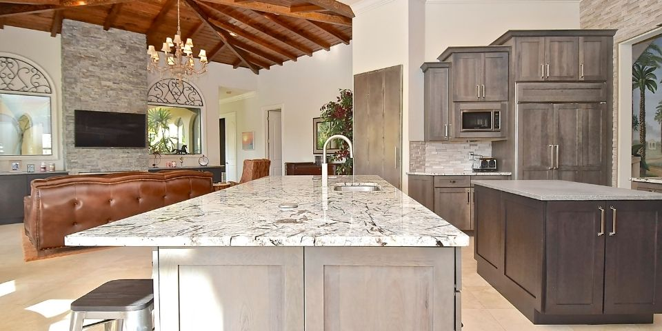 double island feature in functional kitchen remodel design