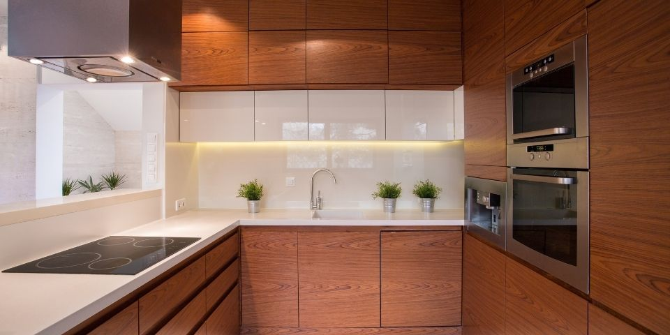 modern contemporary kitchen with no hardware