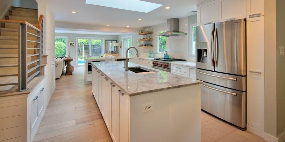 modern kitchen design with plenty of storage