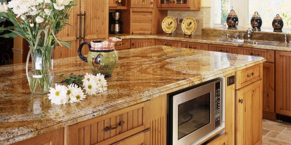 traditional style granite countertop kitchen design