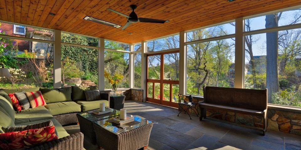 Interior Porch Outdoor Living Space