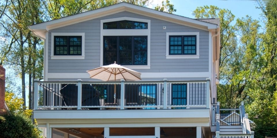 full porch with screened in living space below