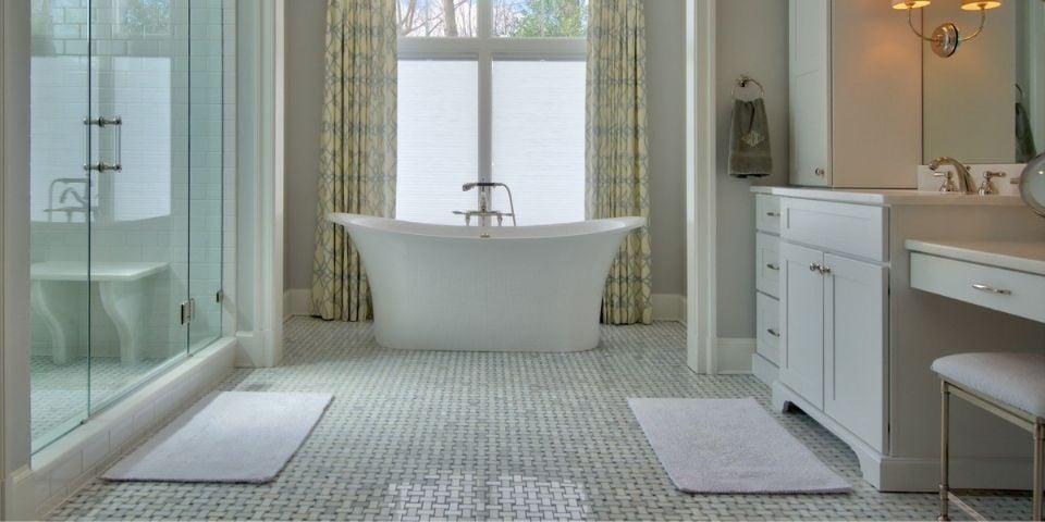 luxury tile bathroom renovation