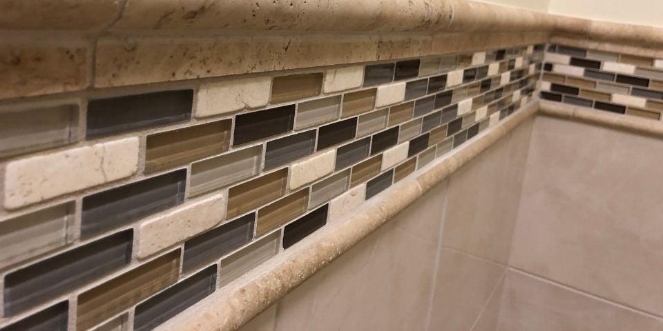 mosaic tile bathroom detail
