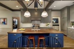 Kitchen Remodeling Services Luxury Kitchen Large Eat-In Island | Denny + Gardner Design-Build Remodelers