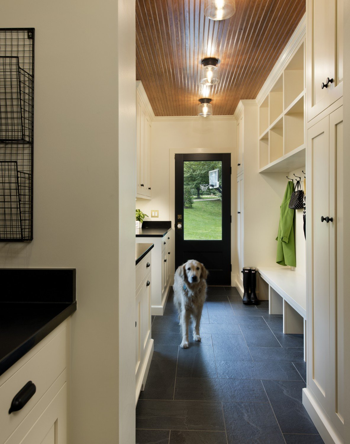 mudroom-with-family-dog