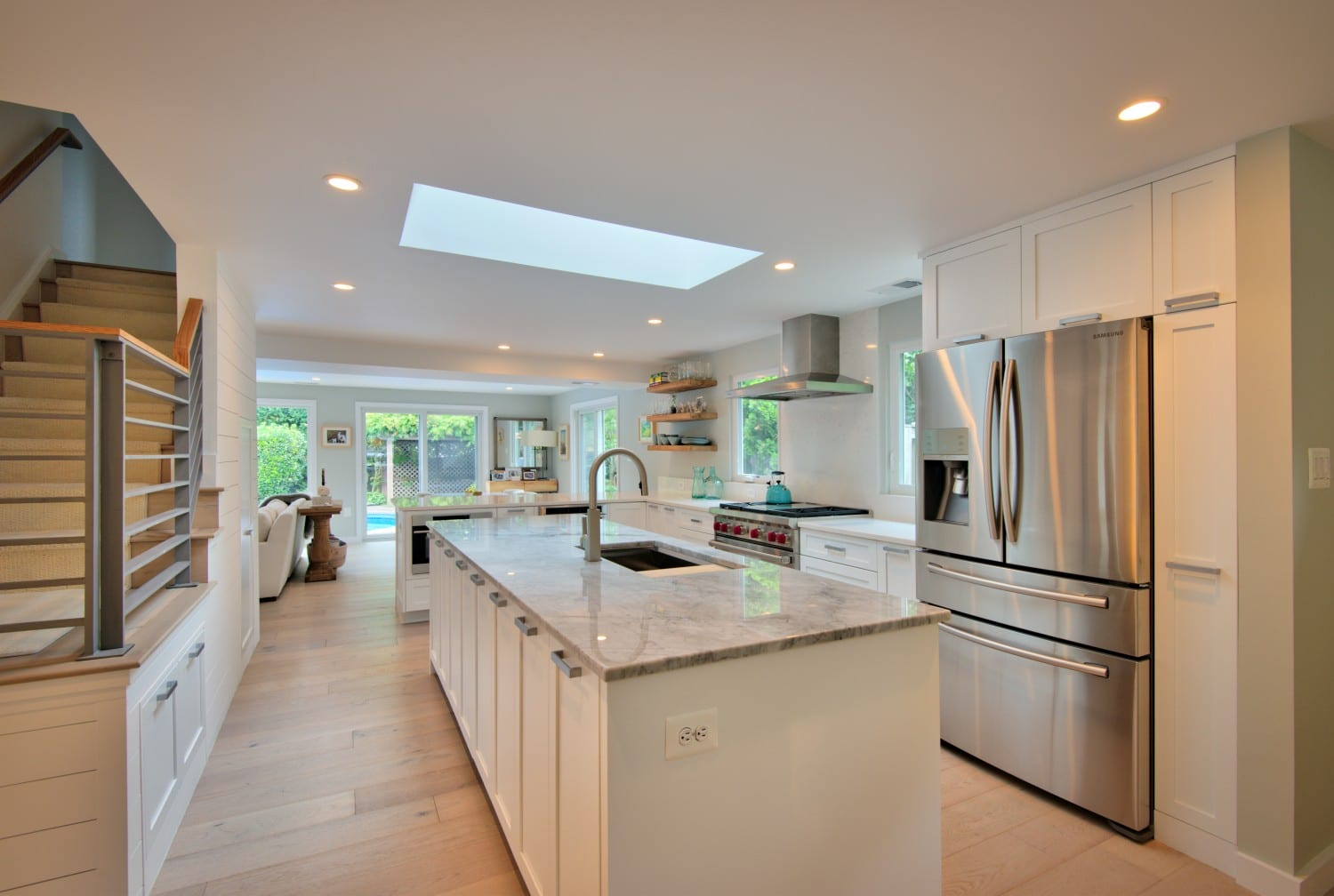 white-kitchen-with-skylight